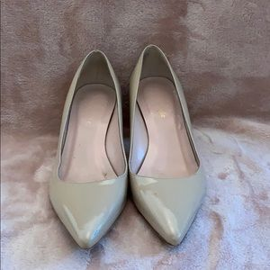 Nude pointy toe patent leather Kate Spade Heels